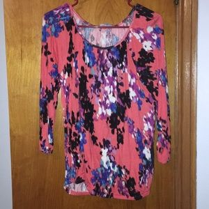 Pink multi color blouse